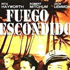 Cine: FUEGO ESCONDIDO RITA HAYWORTH ROBERT MITCHUM DVD. Lote 268514064