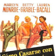 Cine: COMO CASARSE CON UN MILLONARIO MARILYN MONROE DVD. Lote 268557569