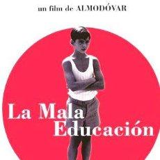 Cine: LA MALA EDUCACION PEDRO ALMODOVAR VIOLENCIA ESCOLAR DVD. Lote 268562414