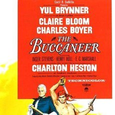 Cine: LOS BUCANEROS YUL BRINNER CHARLTON HESTON PIRATAS DVD. Lote 268567719