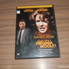 Cine: QUIEN TEME A VIRGINIA WOOLF EDICION ESPECIAL 2 DVD RICHARD BURTON ELIZABETH TAYLOR WARNER. Lote 269045808
