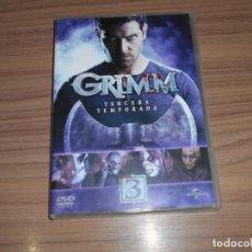 Cine: GRIMM TEMPORADA 3 COMPLETA 6 DVD CIENCIA FICCION-TERROR 970 MINUTOS. Lote 269046678