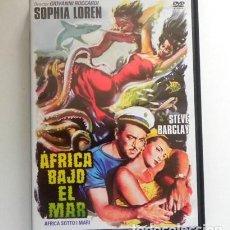Cine: ÁFRICA BAJO EL MAR DVD -MEDIO PELÍCULA MEDIO DOCUMENTAL - SOPHIA LOREN - BIOLOGÍA PECES SUBMARINISMO. Lote 269055193