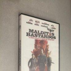 Cine: MALDITOS BASTARDOS / BRAD PITT - MICHAEL FASSBENDER / PELÍCULA DVD. Lote 269078708