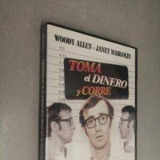 Cine: TOMA EL DINERO Y CORRE / WOODY ALLEN - JANET MARGOLIN / PELÍCULA DVD. Lote 269080703