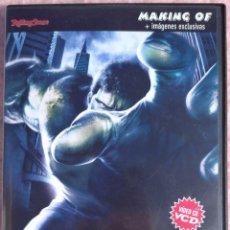 Cine: HULK, MAKING OF + EXTRAS (ROLLING STONE / MARVEL, 2003) /// IRON MAN SUPERMAN BATMAN SPIDERMAN VENOM. Lote 269161703