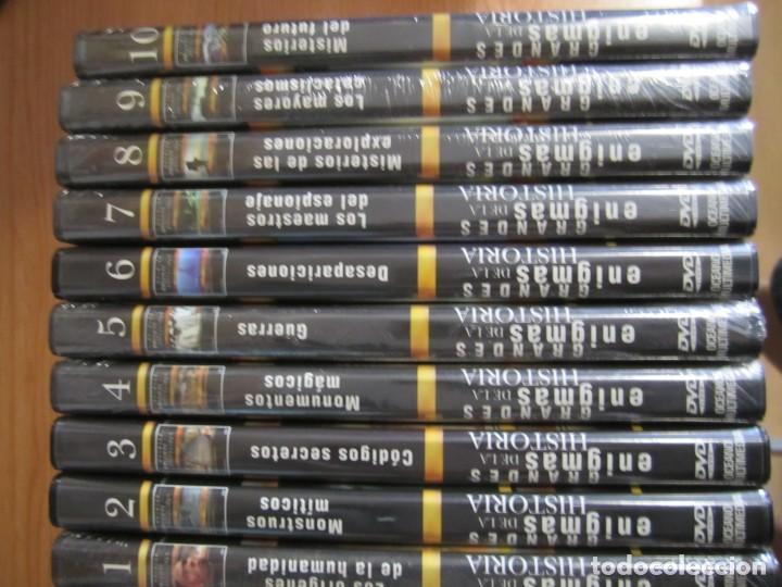 LOTE COLECCION 10 DVD GRANDES ENIGMAS DE LA HISTORIA OCEANO MULTIMEDIA 7 NUEVOS PRECINTADOS (Cine - Películas - DVD)