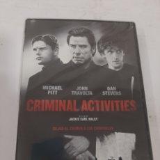 Cine: REF. 13544 CRIMINAL ACTIVITIES -DVD NUEVO PRECINTADO. Lote 269212773