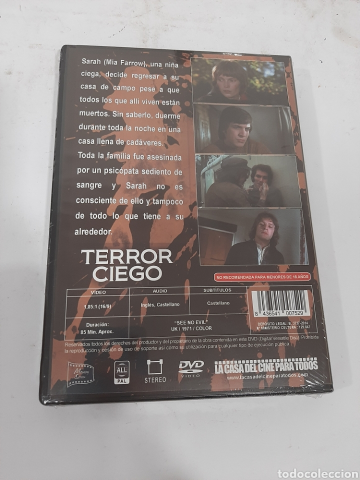 Cine: REF. 13546 terror ciego -DVD NUEVO PRECINTADO - Foto 2 - 269213738
