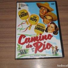 Cine: CAMINO DE RIO DVD BING CROSBY BOB HOPE DOROTHY LAMOUR NUEVA PRECINTADA. Lote 269214973
