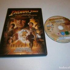 Cine: INDIANA JONES Y EL REINO DE LA CALAVERA DE CRISTAL DVD HARRISON FORD. Lote 269215753