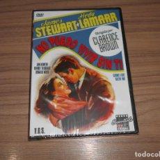 Cine: NO PUEDO VIVIR SIN TI DVD HEDY LAMARR JAMES STEWART NUEVA PRECINTADA. Lote 269216178