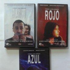 Cine: AZUL- BLANCO- ROJO- KIESLOWSKI- 3 DVD. Lote 269973758