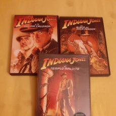 Cine: 3 DVD'S TRILOGIA INDIANA JONES. Lote 269981718
