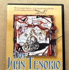 Cine: DON JUAN TENORIO / E. DIOSDADO & M.C. DÍAZ DE MENDOZA / ALEJ. PERLA / DIVISA / DECORADOS DALÍ / DVD. Lote 270261648