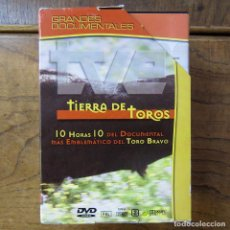 Cine: TIERRA DE TOROS - 2002 - 7 DVD - DOCUMENTAL, TAUROMAQUIA, LÍDIA, RTVE. Lote 270364803