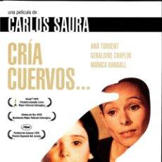 Cine: DVD CRÍA CUERVOS - ANA TORRENT , GERALDINE CHAPLIN , MÓNICA RANDALL - CARLOS SAURA. Lote 270406993