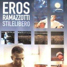 Cine: DVD EROS RAMAZZOTTI STILELIBERO BOOKLET. Lote 270504058