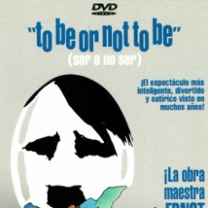 Cine: TO BE OR NOT TO BE (SER O NO SER). DVD. Lote 270565428