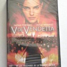 Cine: V DE VENDETTA - DVD PRECINTADO - PELÍCULA ACCIÓN SUSPENSE - NATALIE PORTMAN - HUGO WEAVING - VENDETA. Lote 270751588