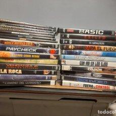 Cine: DVD : LOTE 51 PELICULAS DE ACCION : STALLONE + SCHWARZENEGGER + LIAM NEESON + NICOLAS CAGE. Lote 274280643