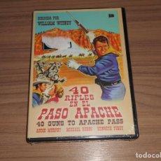 Cine: 40 RIFLES EN EL PASO APACHE DVD AUDIE MURPHY NUEVA PRECINTADA. Lote 295626363