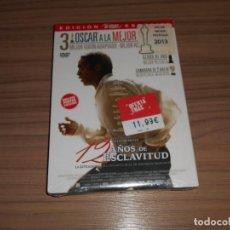 Cine: 12 AÑOS DE ESCLAVITUD EDICION ESPECIAL 2 DVD + POSTER EXCLUSIVO BRAD PITT NUEVA PRECINTADA. Lote 288227218