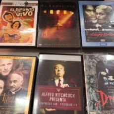 Cine: LOTE DVD CINE TERROR ALFRED HITCHCOCK DRACULA EXORCISTA SLEEPY HOLLOW PACO MARTINEZ SORIA. Lote 277041538