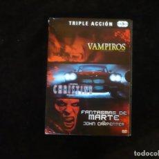 Cine: VAMPIROS + CHRISTINE + FANTASMAS DE MARTE - DE JOHN CARPENTER - DVD COMO NUEVOS. Lote 277257833