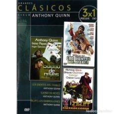 Cine: GRANDES CLASICOS: CICLO ANTHONY QUINN (ESTUCHE DVD SLIM). Lote 277264248