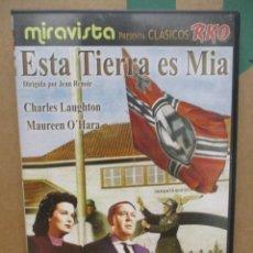 Cine: ESTA TIERRA ES MIA - CHARLES LAUGTON - MAUREEN O´HARA - DVD. Lote 277569048