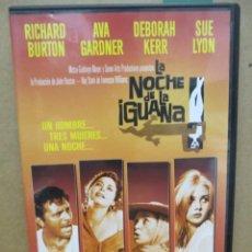 Cine: LA NOCHE DE LA IGUANA - RICHARD BURTON - AVA GADNER - DEBORAH KERR - DVD. Lote 277570218
