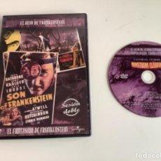 Cine: EL,HIJO DE FRANKESTEIN / EL,FANTASMA DE FRANKESTEIN. . DVD. Lote 277734943