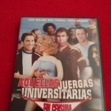 Cine: DVD AQUELLAS JUERGAS UNIVERSITARIAS SIN CENSURA - WILL FERRER - LUKE WILSON - VINCE VAUGHN. Lote 277739288