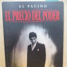 Cine: EL PRECIO DEL PODER - EDICION PLATINUM CAJA METALICA - 2 DVD + LIBRETO - DVD. Lote 277760098