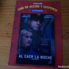 Cine: AL CAER LA NOCHE, PELICULA DVD.. Lote 278417193