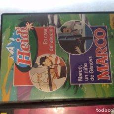 Cine: C-22 DVD HEIDI EN CASA DEL ABUELO Y MARCO MARCO, UN NIÑO GENOVA - PLANETA JUNIOR. Lote 278417263