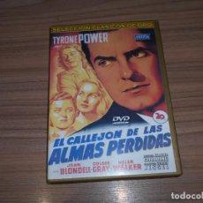 Cine: EL CALLEJON DE LAS ALMAS PERDIDAS DVD TYRONE POWER. Lote 278689278