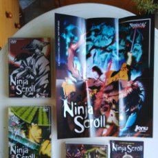 Cine: LOTE DE 3 DVD NINJA SCROLL ( 1,2 Y 3 ) + 1 LIBRITO + 1 PÓSTER ( 36 X 30 ). Lote 278793138