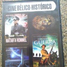 Cine: DVD -- MATAR A ROMMEL / CONSEJO DE GUERRA / CON DESTINO A LA LUNA -- CAJA FINA --. Lote 278967148