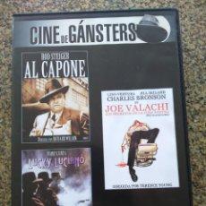 Cine: DVD -- AL CAPONE / JOE VALACHI / LUCKY LUCIANO -- CAJA FINA --. Lote 278967273