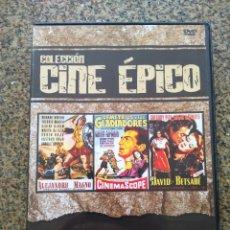 Cine: DVD -- ALEJANDRO MAGNO / DEMETRIUS Y LOS GLADIADORES / DAVID Y BETSABE -- CAJA FINA --. Lote 278967623