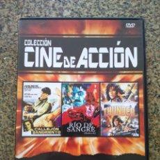 Cine: DVD -- CALLEJON SIN SALIDA / RIO DE SDANGRE / THUNDER -- CAJA FINA --. Lote 278967743