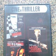 Cine: DVD -- JAQUE AL ASESINO / SOLA EN LA PENUMBRA / LAZOS DE SANGRE ASESINOS -- CAJA FINA --. Lote 278967898