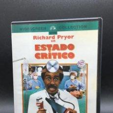 Cine: ESTADO CRÍTICO // DVD - PAL 2 // RICHARD PRYOR. Lote 278971748