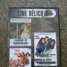 Cine: DVD -- OPERACION CROSSBOW / HUIDA A BIRMANIA / LOS CAÑONES DE SAN SEBASTIAN -- CAJA FINA --. Lote 278972858