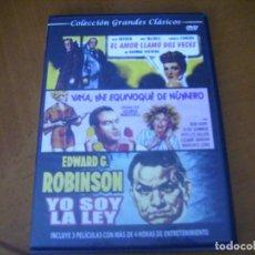 Cine: COLECCION GRANDES CLASICOS CON 3 PELICULAS - YO SOY LA LEY + 2 CAJA SLIM. Lote 279325763
