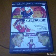 Cine: COLECCION GRANDES CLASICOS CON 3 PELICULAS - CARTOUCHE + 2 CAJA SLIM. Lote 279326178