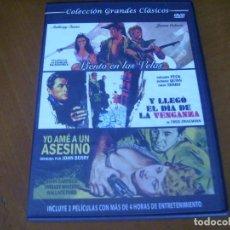 Cine: COLECCION GRANDES CLASICOS CON 3 PELICULAS - YO AME A UN ASESINO + 2 CAJA SLIM. Lote 279326303