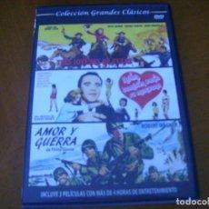Cine: COLECCION GRANDES CLASICOS CON 3 PELICULAS - ADAN TAMBIEN TENIA SU MANZANA + 2 CAJA SLIM. Lote 279326423